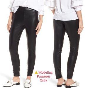 Hue Faux Leather Leggings (L)